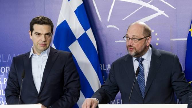 Martin Schulz, Alexis Tsipras