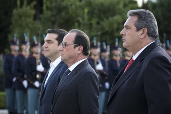 Tsipras Hollande Kammenos
