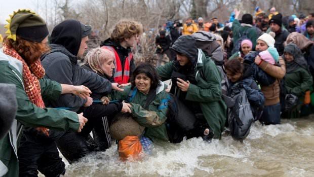 refugees idomeni