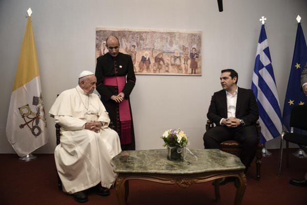 pope francis tsipras