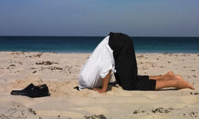 man head sand